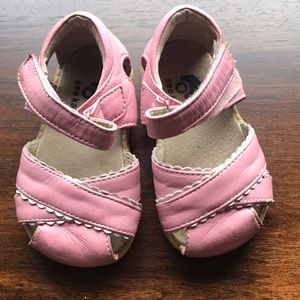 See Kai Run pink leather sandals